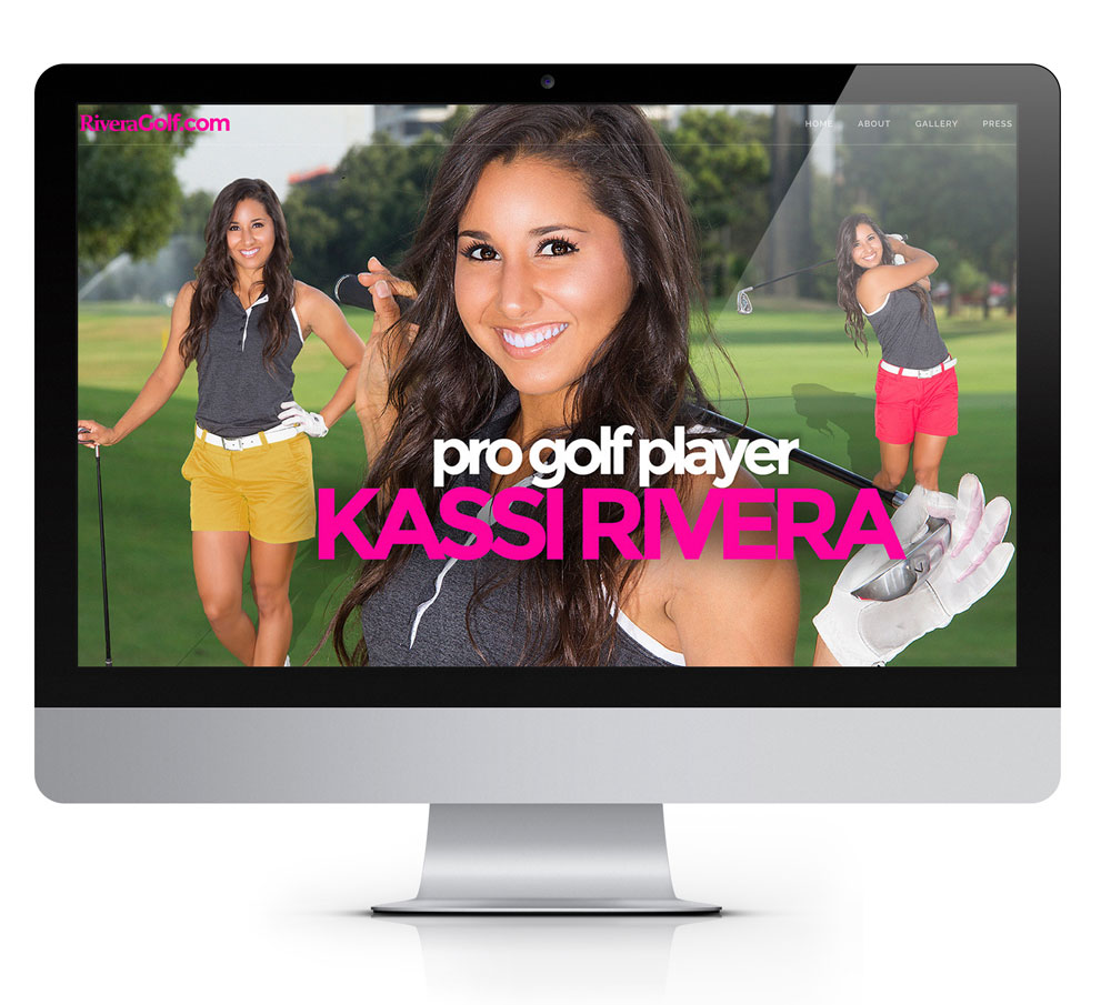A picture of a computer screen with the browser window open to Kassi Rivera's website